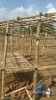 Frames set up for the shelters using locally purchased poles and bamboos._1